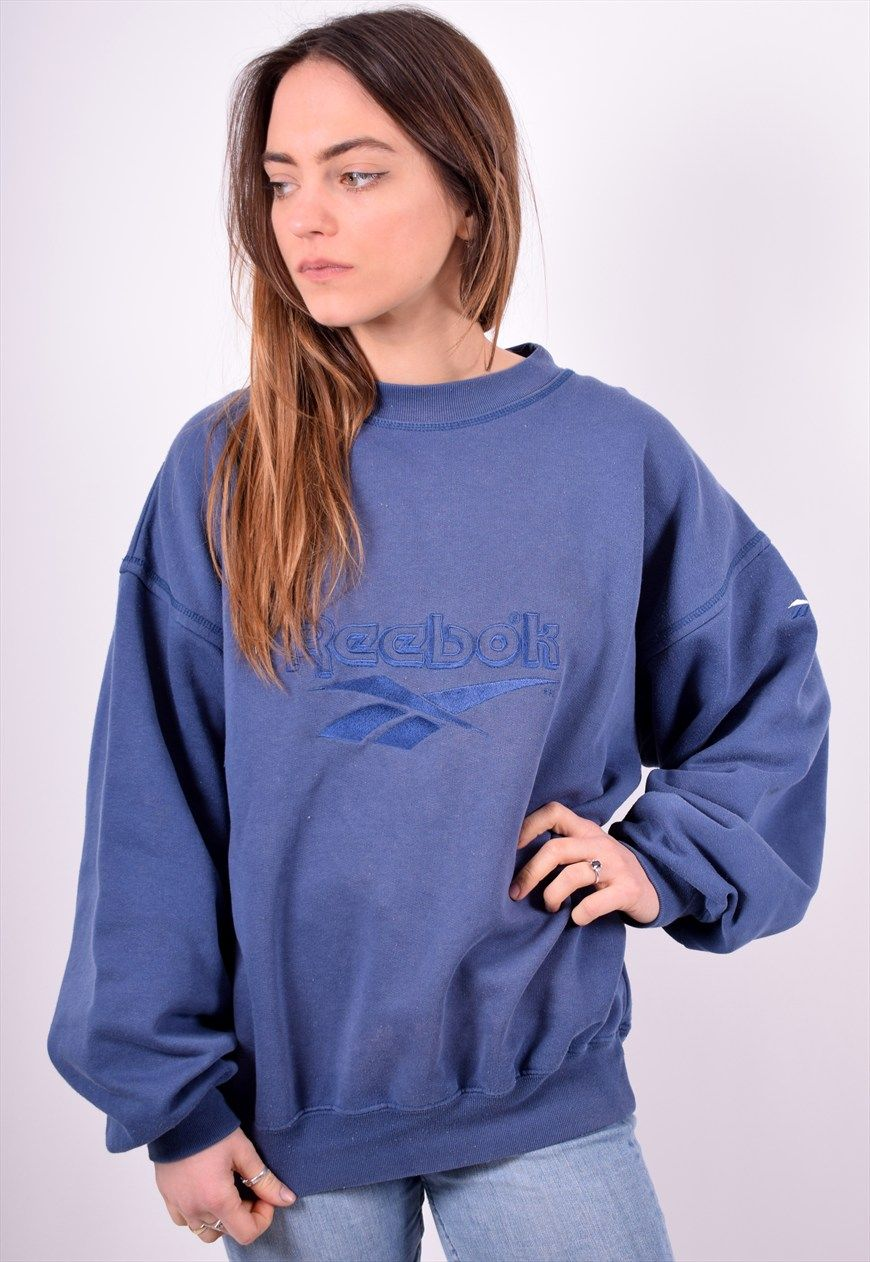 8987b99b8b9e Reebok Womens Vintage Sweatshirt Jumper XL Blue 90's | Messina Girl | ASOS  Marketplace