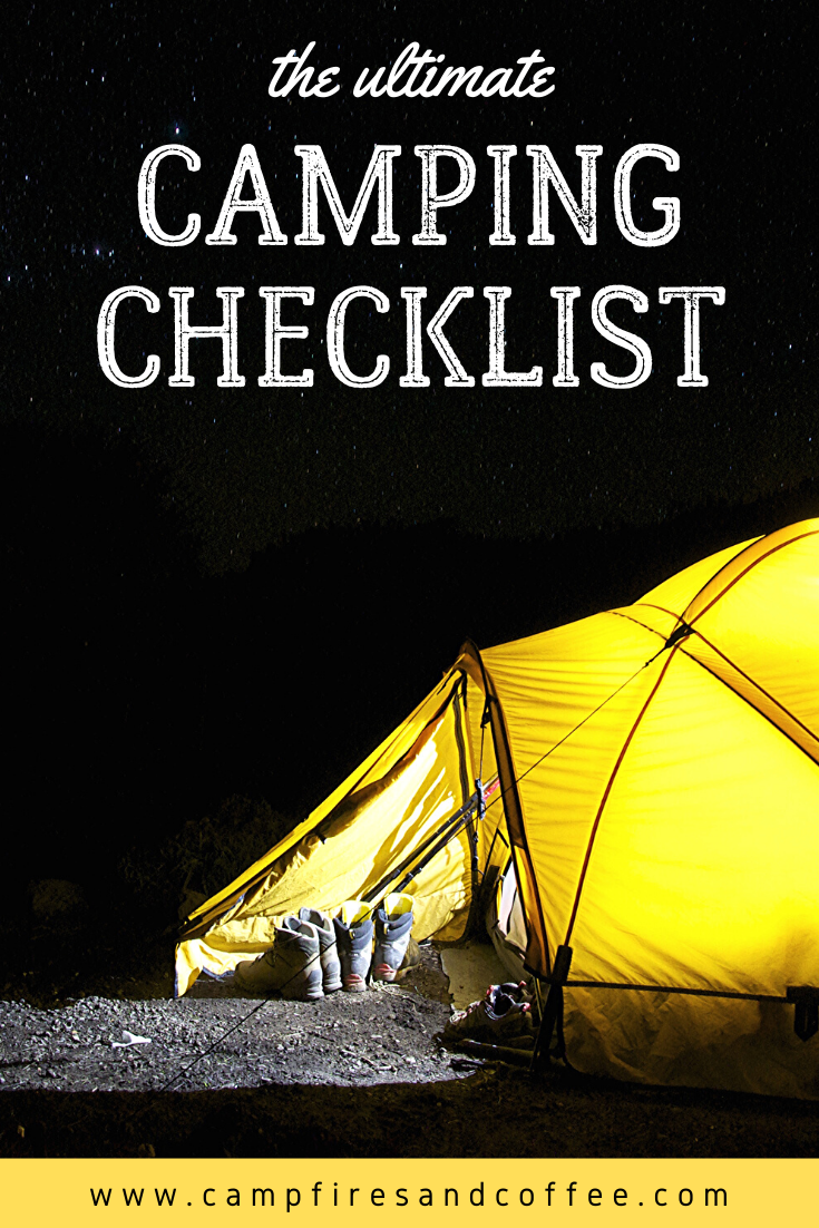 Camping Checklist Campfires & Coffee in 2020 Camping