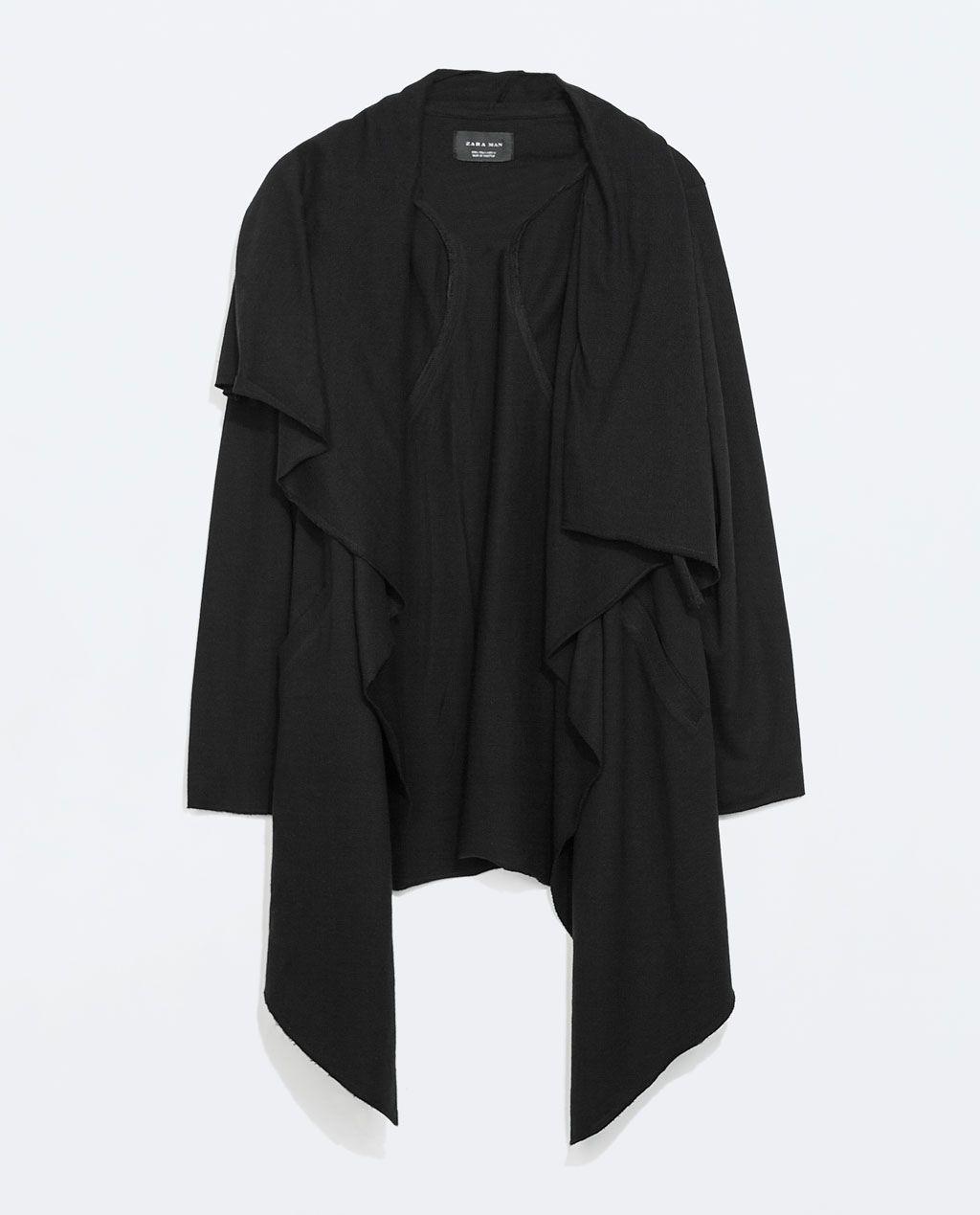 Mens black leather gloves debenhams - Zara Homem Capa Com Fechos Ecler Dark