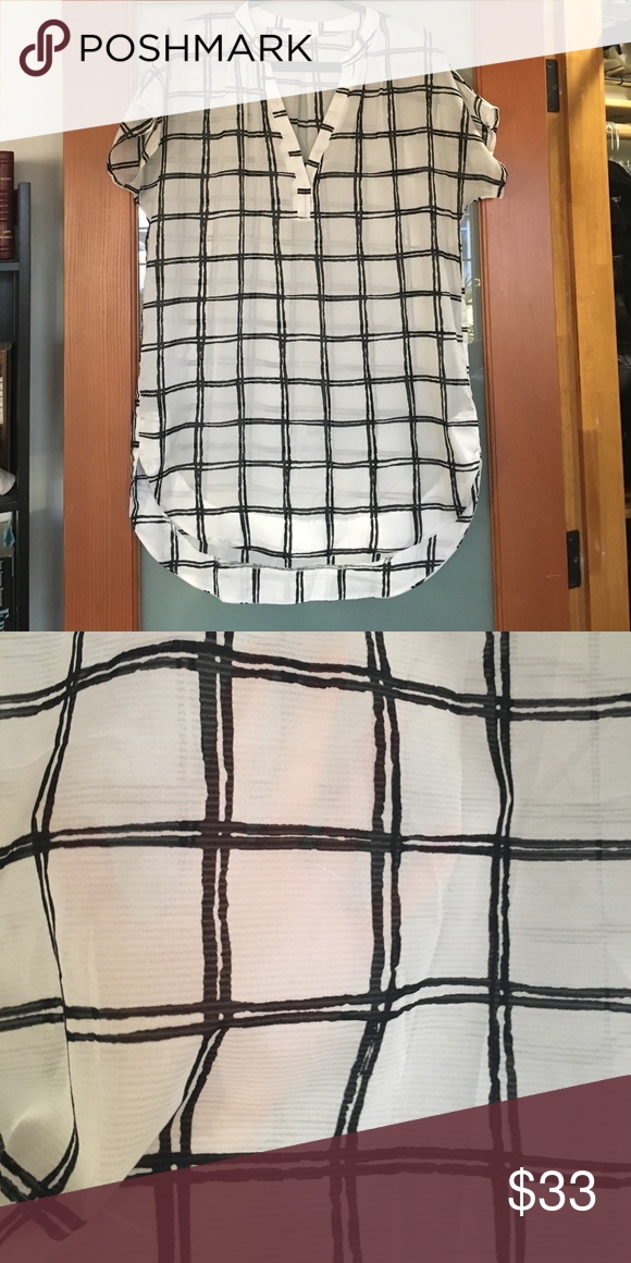 Sheer black and white tunic from Nordstrom Worn once. Perfect condition. Nordstrom Tops Tunics