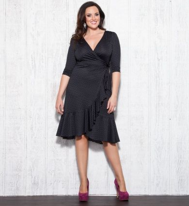 7bc0271847561 This wrap dress is the perfect silhouette for all body types and the extra  cinch feature at the waist will only accentuate your fabulous curves even  more.