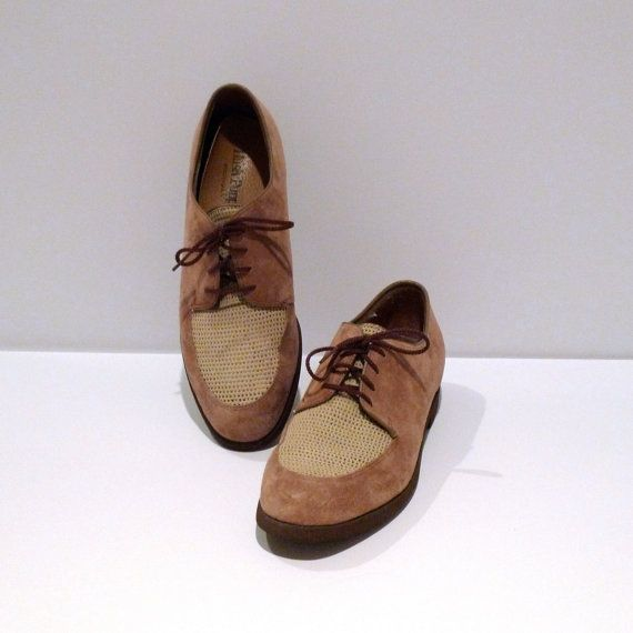 Hush Puppies Shoes Vintage Mens Size Two Tone By Plattermatter Vintage Shoes Hush Puppies Suede Leather