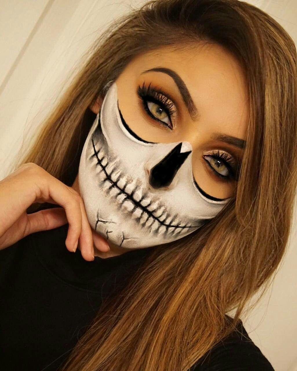 Pin by Destiny Hooks on Halloween Halloween skull makeup