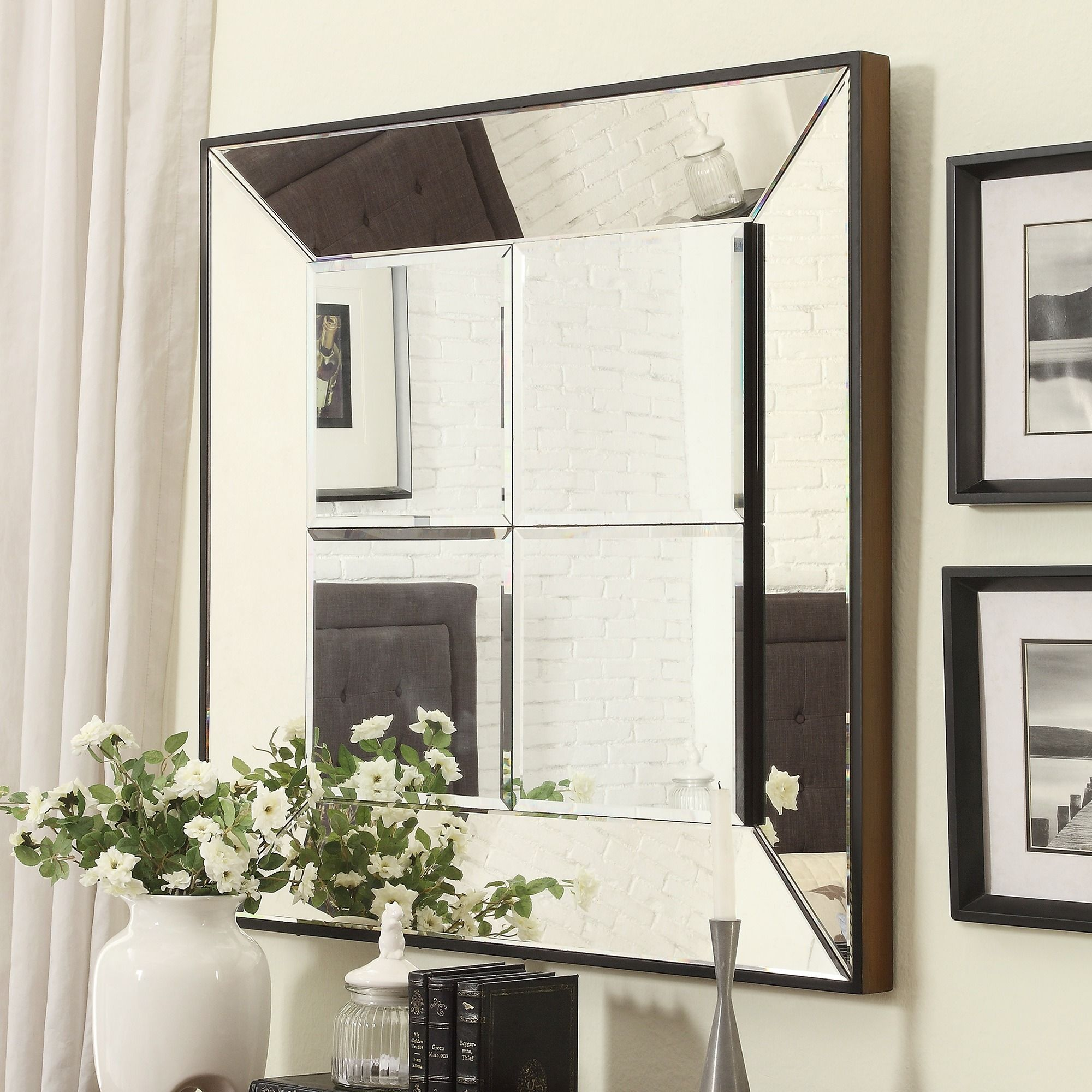 INSPIRE Q Dubois Beveled Multipanel Square Accent Wall Mirror - Overstock  Shopping - Great Deals on