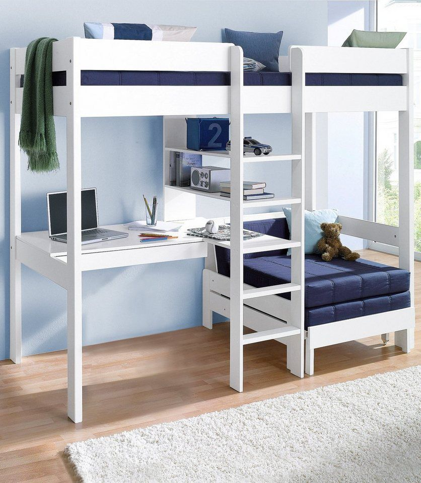 Boys loft bed with desk  Hochbett  Kids rooms and Room
