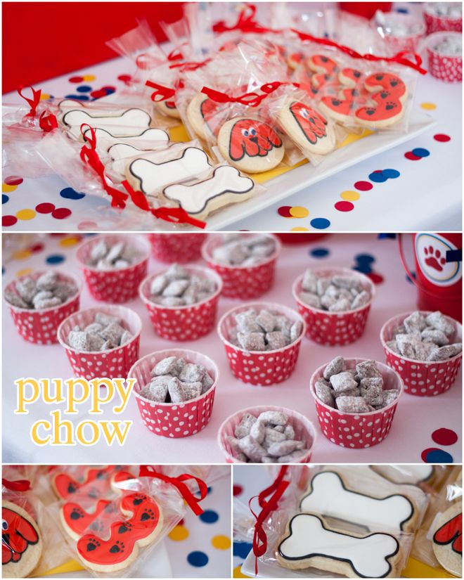 Clifford The Big Red Dog Party Treats Love Puppy Chow And Bone Cookie Idea