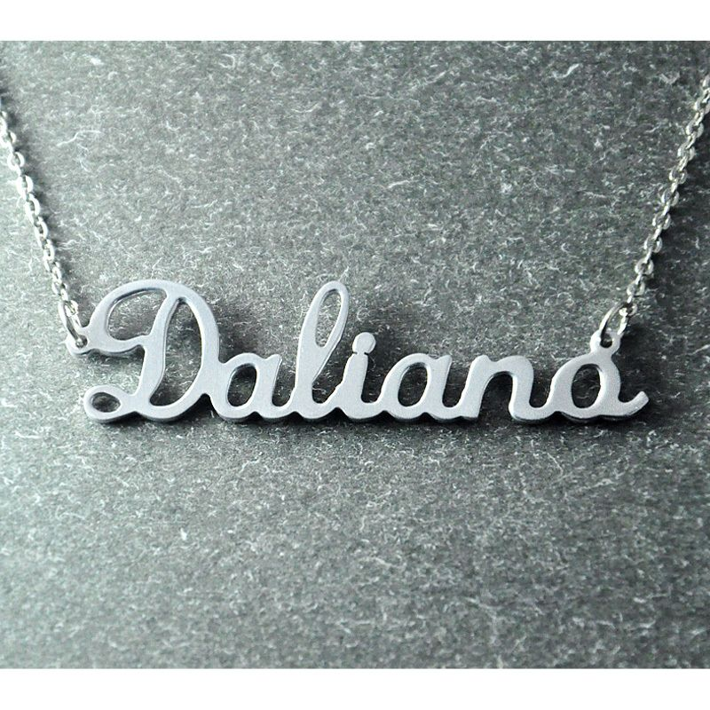 Personalized necklace personalized jewelry 925 sterling silver personalized necklace personalized jewelry 925 sterling silver necklace nameplate pendant custom necklace name necklace 1299 aloadofball Gallery