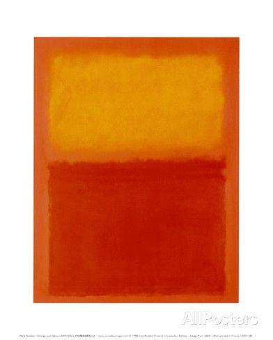 Orange und Gelb Poster von Mark Rothko - AllPosters.at