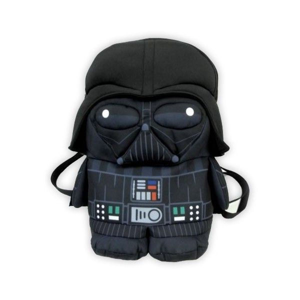 Darth Vader Backpack Pals ($30) ❤ liked on Polyvore featuring bags, backpacks, black, backpacks bags, cartoon character backpacks, black backpack, comic backpack and black comic book