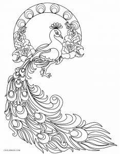 free printable peackoxk mosaic art coloring pages | Free Printable Peacock Coloring Pages For Kids | Diwali ...