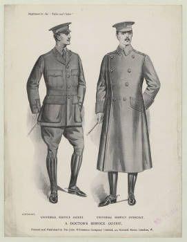 Menswear 1910s Military Uniforms Plate 007 Costume Institute Fashion Plates Military Uniform Menswear Uniform