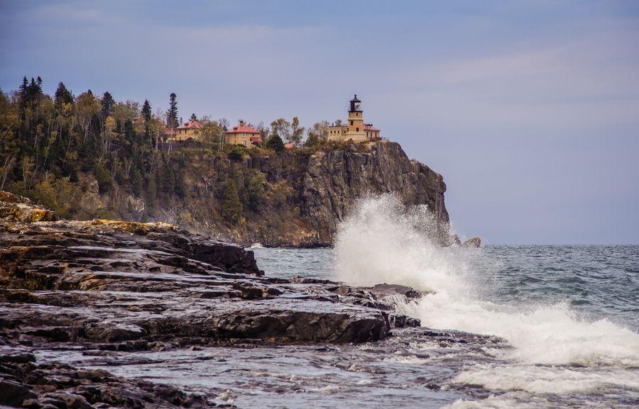 Big Wave at Split Rock Lighthouse by Jeffrey Klug, via 500px