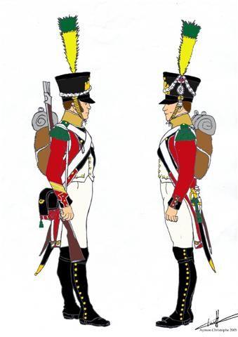 Fucilieri del 3 rgt. di fanteria svizzera