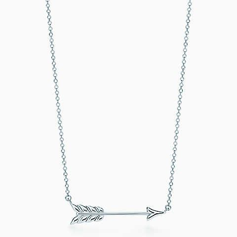 Tiffany Hearts® arrow pendant in sterling silver, small.