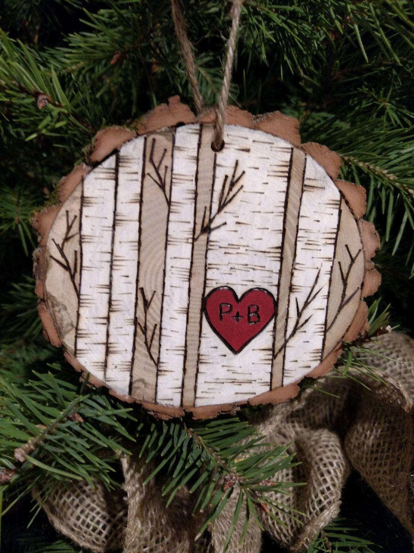 Wood Slice Ornament Painted