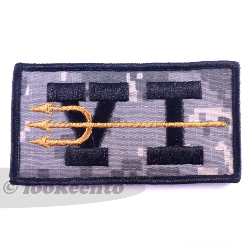 Us Navy Seals Team 6 Velcro Patch Showing The Trident Spear One