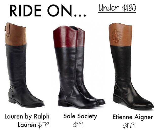 3 Two Tone Riding Boots Under $180