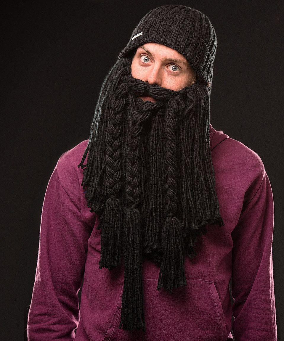 ba1b2cc46b6 Look what I found on  zulily! Black Viking Beard Beanie - Adult by ...