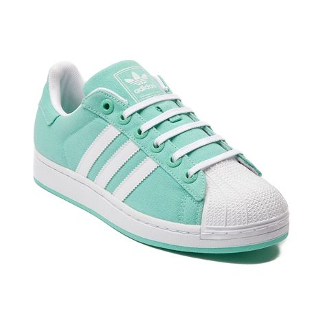 adidas Superstar Canvas Athletic Shoe in Mint greatness, this canvas  tribute to the original 1969 Superstar features a canvas upper, classic  three-stripe ...