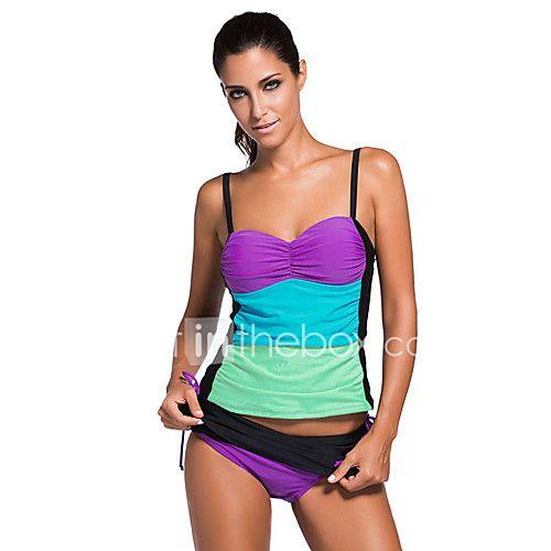 0fc791fc43 One Piece Swimwear. Bikini Swimsuit. Mujer Tankini Escote Bloques 2017 -  $22.99 Monokini, Bandeau Tankini, Tankini Shorty, Tankini