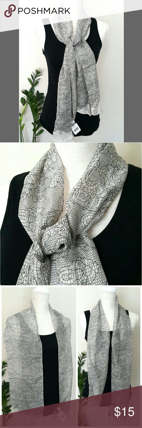 Accessorize Silk Scarf Nwt Clothes Design Chic Scarves Fashion
