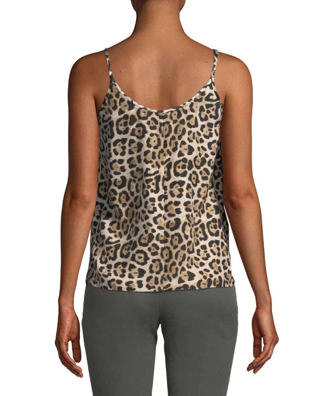 9e9ef042e3315e Atm Anthony Thomas Melillo Leopard-Print Silk Charmeuse Cami Top