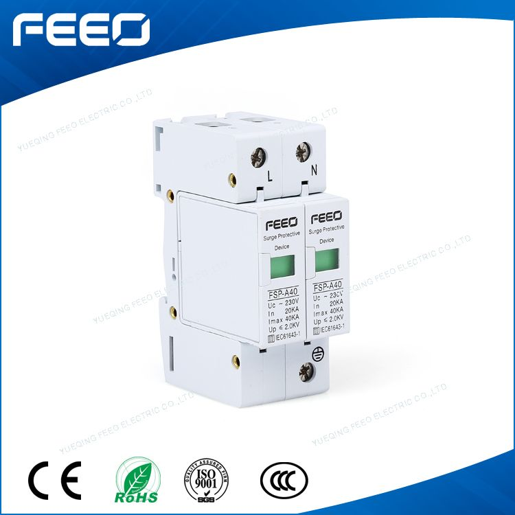 Ac 380 220v 20ka 40ka Thunder Surge Arrester Protectors Transient Surge Suppressors Spd For Lighting System