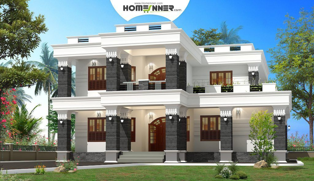 Modern spacious box house design in 2920 sq ft indian for House naksha image