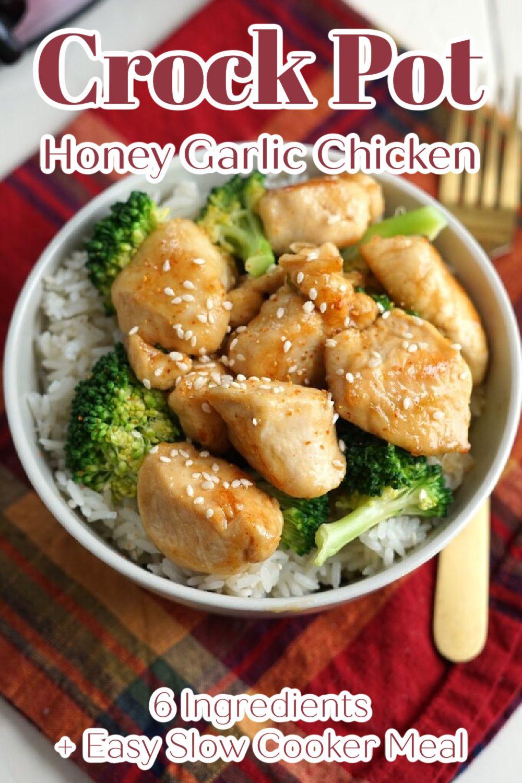 Slow Cooker Honey Garlic Chicken Recipe In 2021 Slow Cooker Recipes Easy Chicken Recipes Crockpot Recipes Slow Cooker