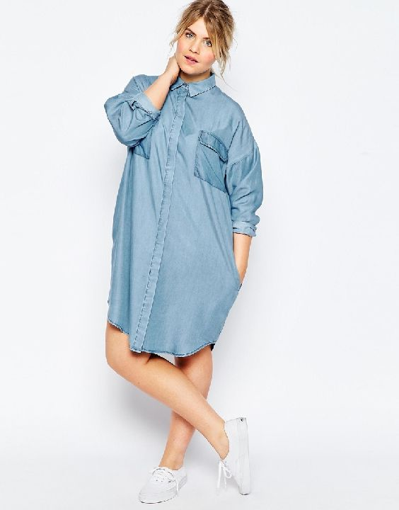 332cdcc09b5e2 asos curve oversized shirt dress