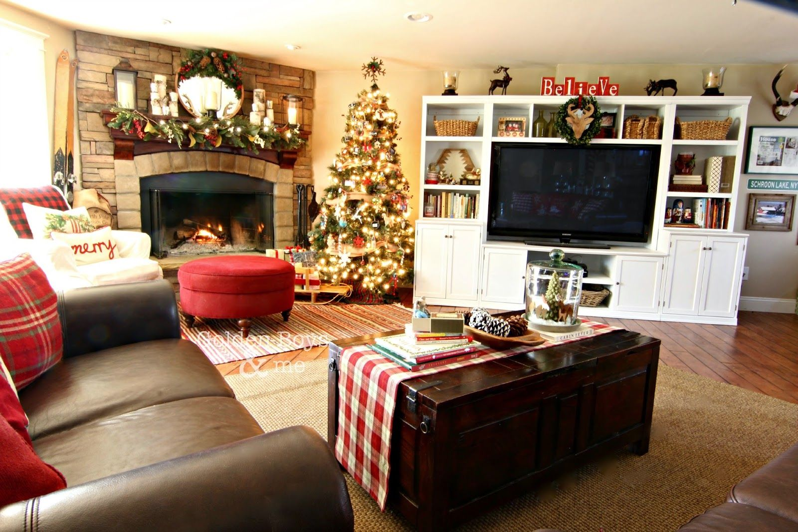 Holiday Home Tour 2014 Pottery Barn Style Family Room