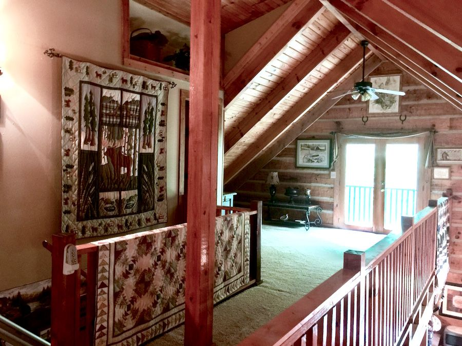 Loft of Southland Log home in Asheville Nc. Now for sale