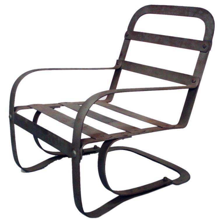 Moderne Art Deco Steel Chair By Mckay Steel Chair Chair Design