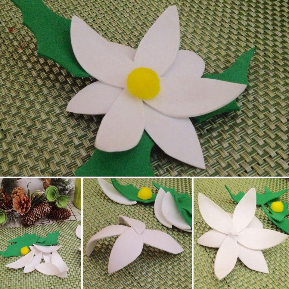 flore de fomy o goma eva para adornos navideos adorno decoracion