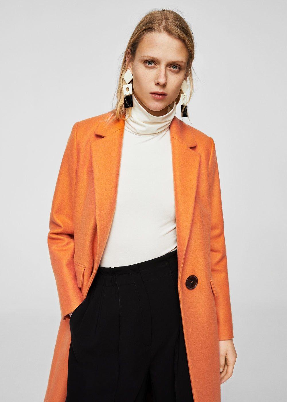 Mango CITRUS Manteau Classique Orange. Mango CITRUS Manteau Classique  Orange Manteau Femme ... 07ea5290b3fb