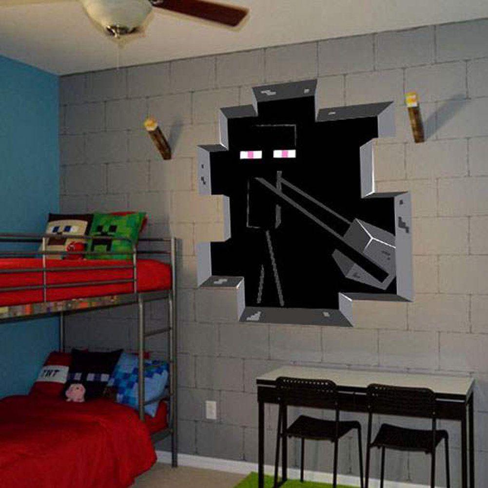 minecraft wall decal decor enderman minecraft pinterest chambres deco. Black Bedroom Furniture Sets. Home Design Ideas