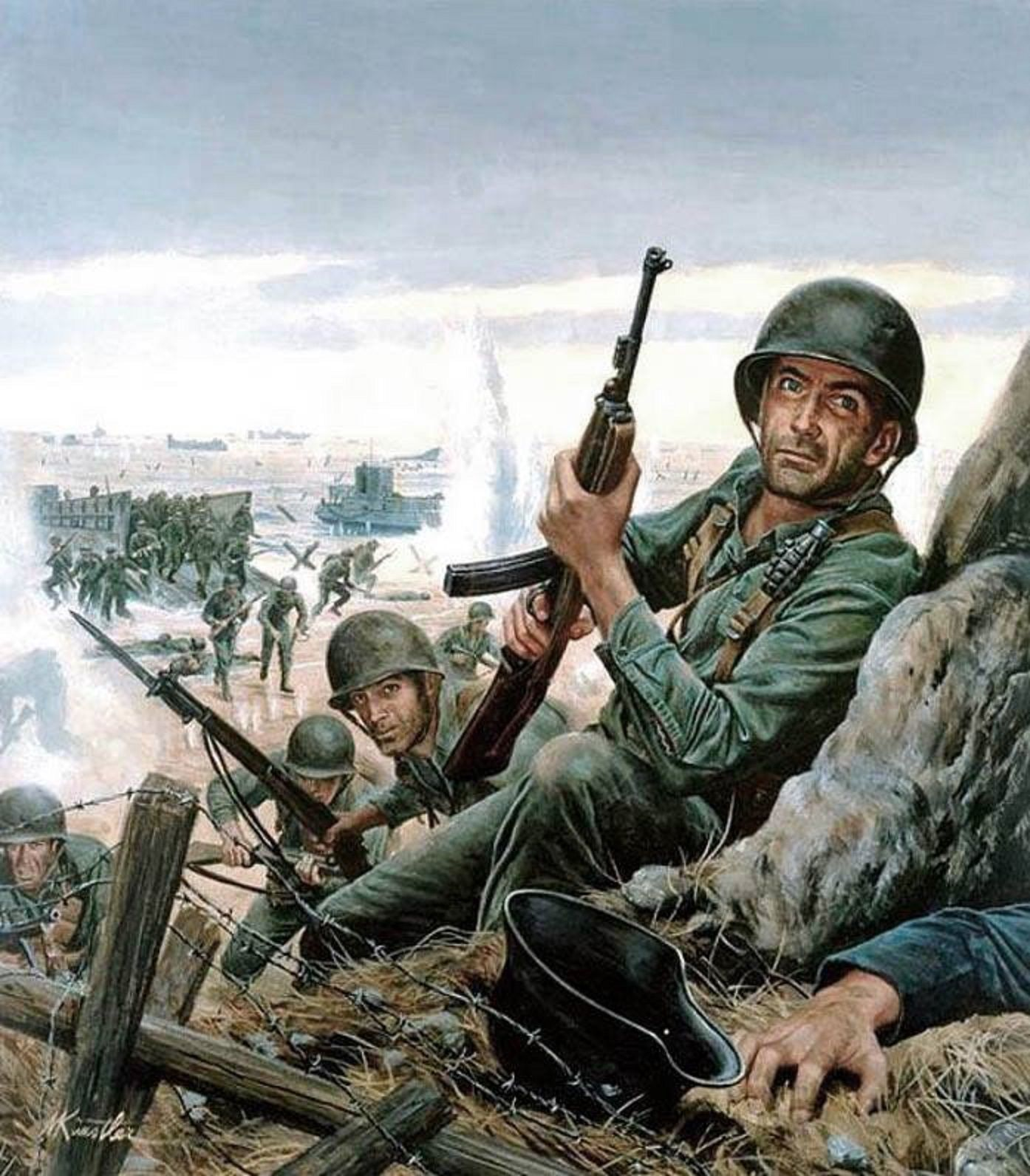Day reenactment ww ii pictures pinterest - Art Illustration World War Ii