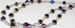 Black Clear Pallidium Beaded Lanyard Eyeglass Chain by nonie615, $15.00