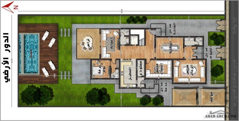 فيلا بيشة فيلا خاصة تصميم معمارى شامخ Modern House Plans Design Modern House