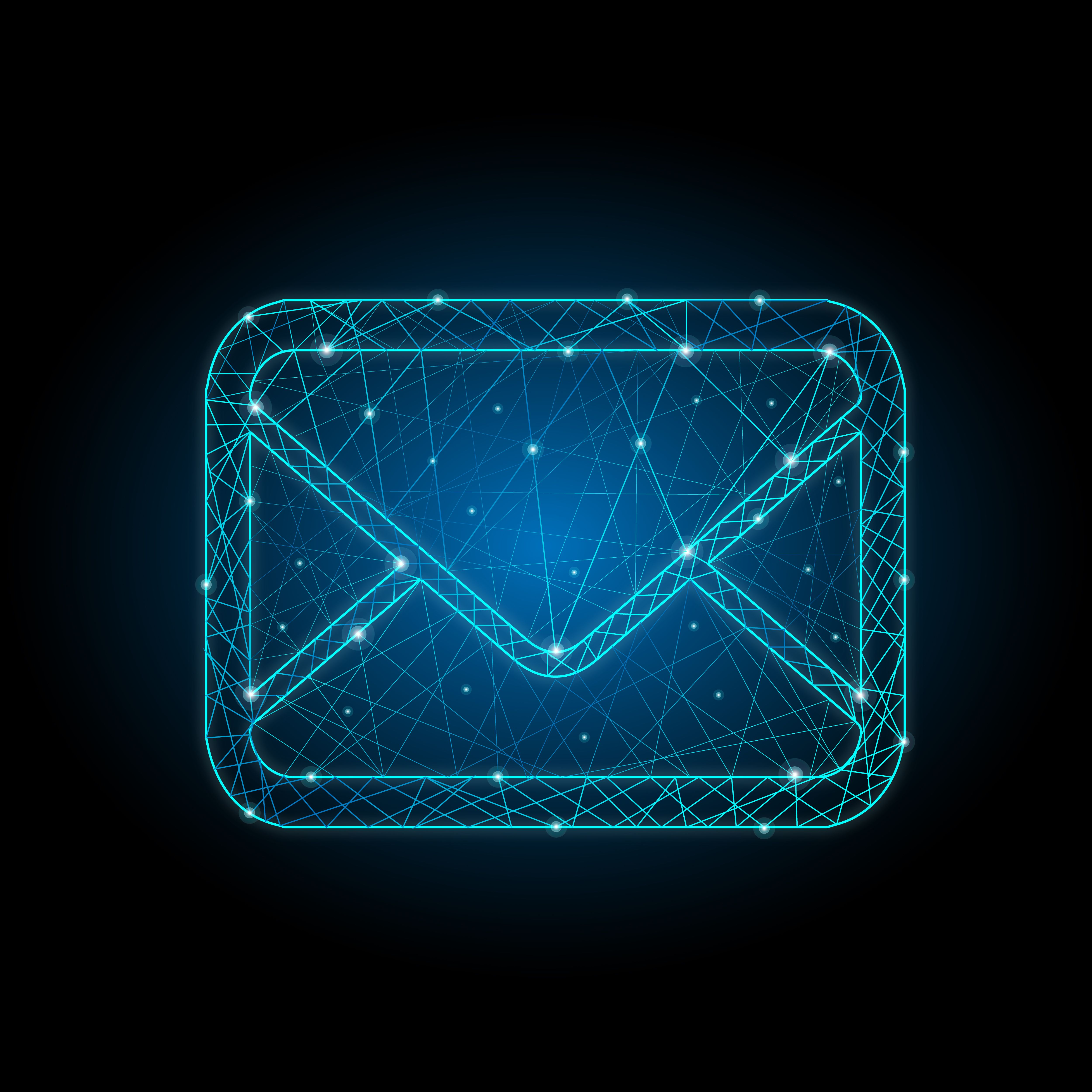 particle, style, design, mail, icon, envelope, email, e
