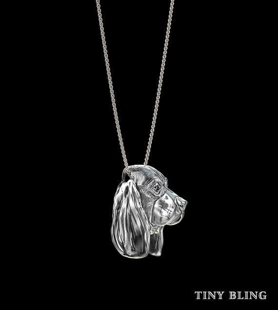 Basset Hound Breed Jewelry Face Pendant