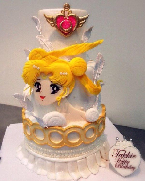 Cool Sailor Moon Cake Google Search Sailor Moon Cakes Sailor Moon Personalised Birthday Cards Paralily Jamesorg