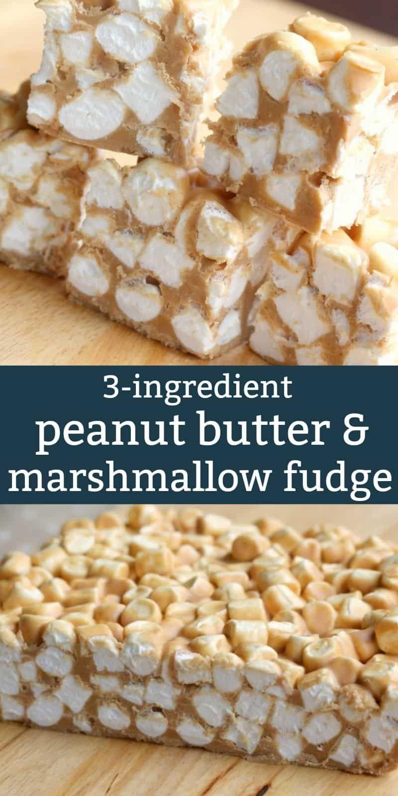 Peanut Butter Marshmallow Fudge Squares