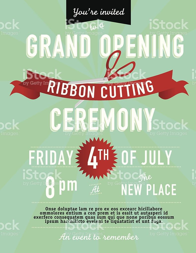ribbon cutting invitation design template office grand opening