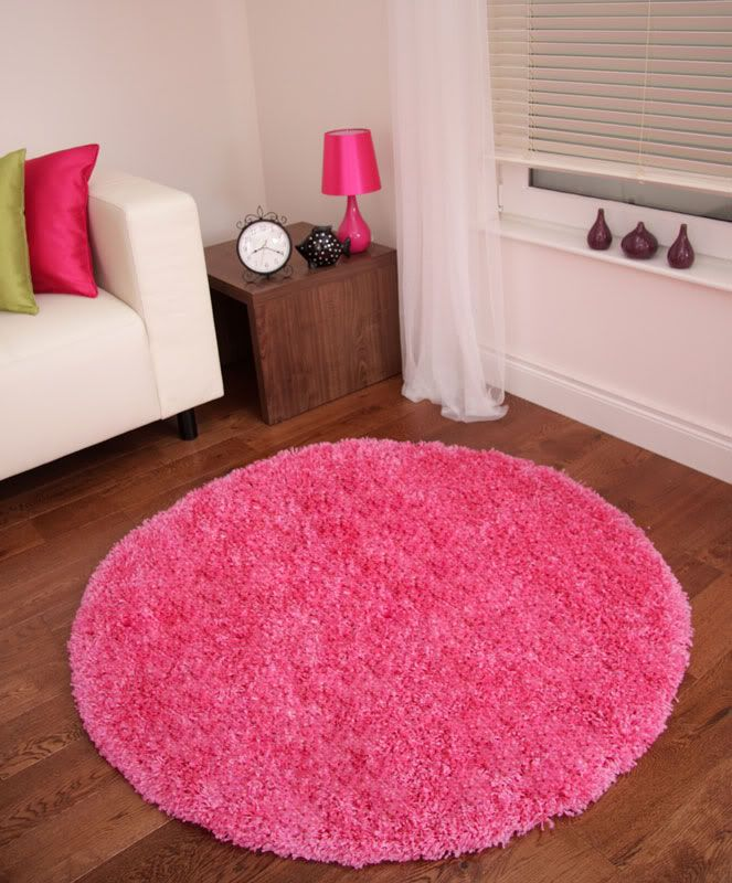 Details About Bright Pink Modern Rugs Fuschia Large Cool Funky Cheap Deep Round  Rug Stockholm