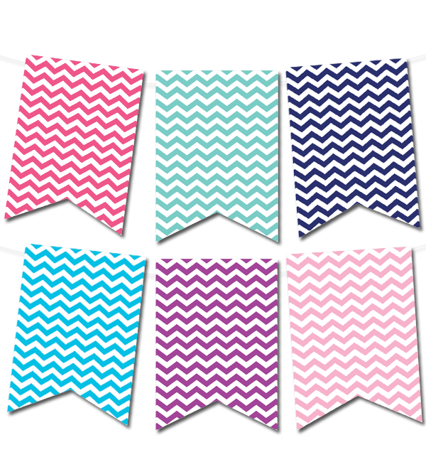 photo relating to Printable Banners identify Cost-free printable chevron pennant banner in opposition to