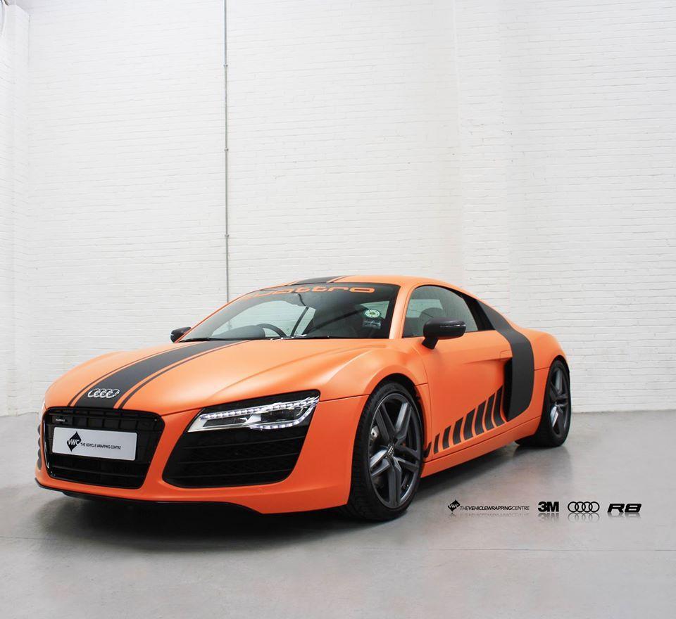 Audi R8 Quattro Wrapped In 3m 1380 Satin Autumn Orange With 3m Matte