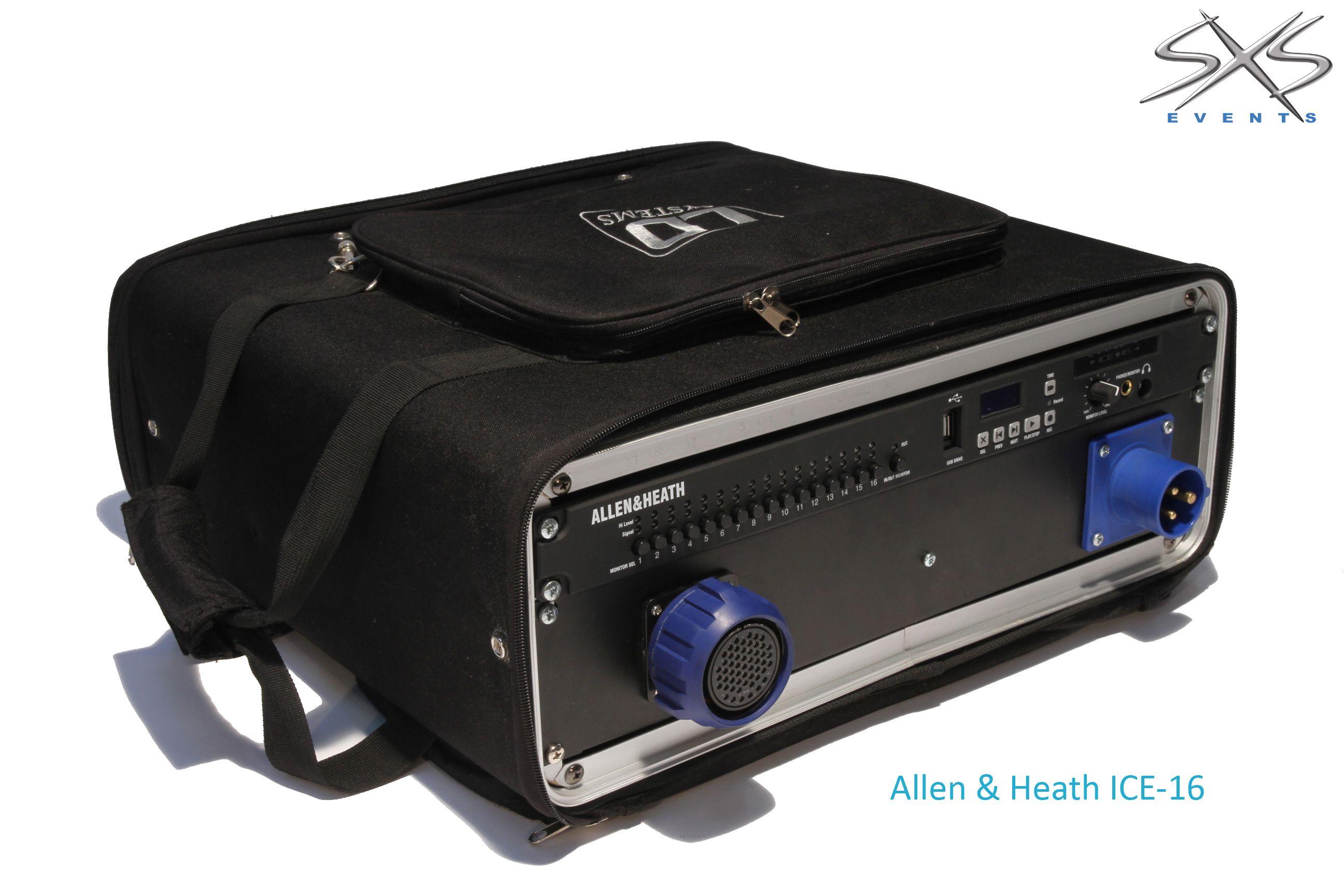 An Allen & Heath ICE live recording rack