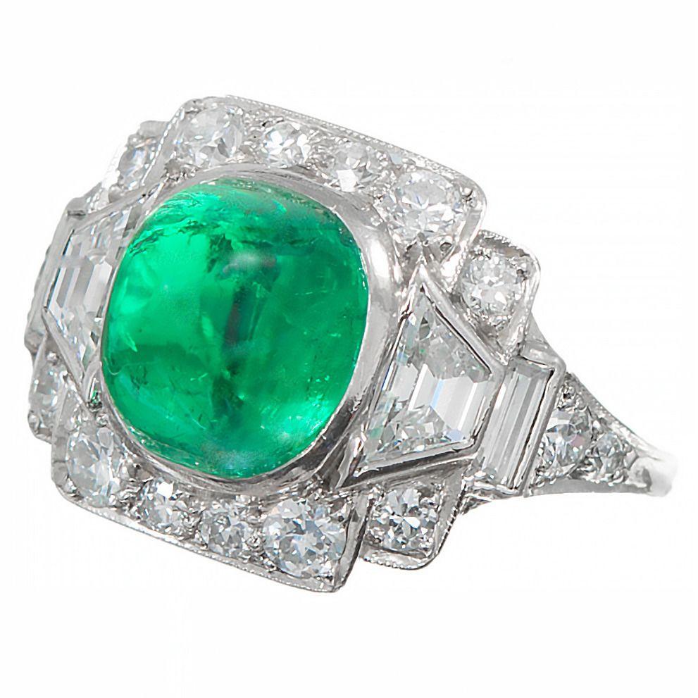 421ecc609f507 Tiffany & Co. 3.60 Carat Colombian Emerald Diamond Platinum Cocktail ...