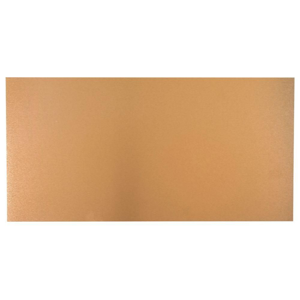 M D Building Products 12 In X 24 In Copper Aluminum Sheet 57525 The Home Depot In 2020 Metal Siding Siding Trim Copper Sheets
